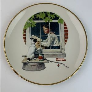 Norman Rockwell Daydreaming collector china plate